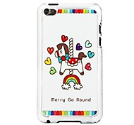Merry Go Round Leather Vein Pattern Hard Case for iPod touch 4