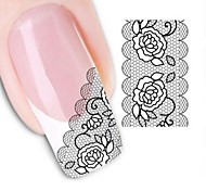 Water Transfer  Printing  Nail Stickers XF1344