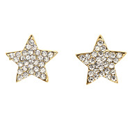 Fashion Star Shape Diamanted Stud Earring(1 Pair)