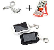 1200mAh USB Solar Power Bank with 4in1 Cable External Battery for iPhone 6/6plus/5/5S Sumsang S4/5 HTC Blackberry Mobile