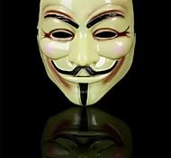 V wie Vendetta anonymen Kerl Fawkes-Maske für Halloween Party (gelb) (1 PC)