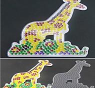 1pcs modelo padrão de contas de fusíveis claro pegboard girafa para hama contas 5 milímetros cabeças diy