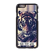 Personalized Case Tiger Design Metal Case for iPhone 6 Plus