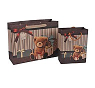 Coway 2Pcs Cartoon Bow Hand Carry Paper Bag Gift Bags Set