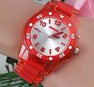 Women's Fashionable Round-Shaped Plastic Watches(1Pc)