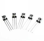 hx1838 / pc638 diy universelle elektronische Komponente Infrarot-Empfänger - Silber (5 Stück)