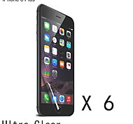 High Quality Clear Screen Protector for iPhone 6S Plus/6 Plus (6 pcs)