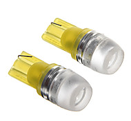 T10 1.5W Yellow LED  Car Instrument Lamps (DC12V, 2Pcs)