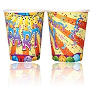 Coway 50PCS Music Party Disposable Paper Cup Cartoon Environmental Protection