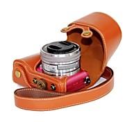 dengpin® para sony A5100-ILCE 5100l cámara cubierta de cuero del bolso de la caja con el hombro del estilo de carga de la correa
