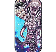 Elefanten und Sternenhimmel mustern harte rückseitige Abdeckung für iPhone 4 / 4s