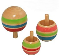 Wooden Color Handstand Reverse Spinning Top Toys  (Set of 3)