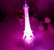 Coway Romantic Monochromatic Light Colorful Eiffel Tower LED Nightlight(Random Color)