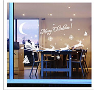 ZOOYOO® Cute Colorful PVC Removable christmas carrige picture of  Wall Stickers Hot Selling Wall Decals For Home Decor