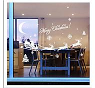 zooyoo® bonito pvc imagem carrige natal removível colorida de adesivos de parede adesivos de parede de venda quente para a decoração da