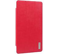 moda pu plegable cubierta en folio protectora caso para vido / Yuandao N70 de la tableta 3g con protector de pantalla