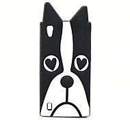Black Dog Pattern Soft Case for Vivo Y15