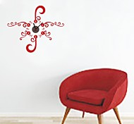 ZOOYOO® Electronic battery clock DIY red flower backround wall clock wall sticker home decor for room