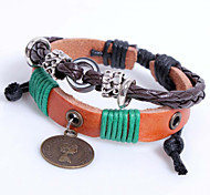 Leather Bracelet  Alloy Royal Queen Of Fashion Handmade Bracelet