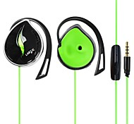 IP50 3.5mm Hi-Fi Stereo Earhook Sports Headsets with Microphone and ear-wire for PC Laptop for Iphone6/Iphone6 Plus