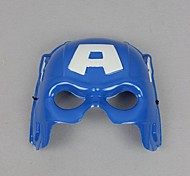 Captain America Blue PVC Half Face Cosplay Mask