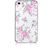 Fresh Roses Pattern Black Frame Back Case for iPhone 4/4S