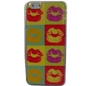labios hermosos tapa dura de plástico para el iphone 6