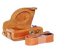 cuir dengpin® sac amovible couvercle de protection de boîtier de la caméra avec bandoulière pour Canon Powershot S110 s120 s200