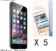 [5-pack] de haute qualité anti-empreintes digitales protection d'écran pour 6s iphone plus / 6 plus