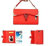 Blumen-und Diamant-Armband Ganzkörperlederbrieftasche Tasche Etui für Samsung Galaxy Note N7100 2 (verschiedene Farben)