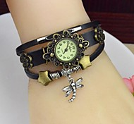 Women's Fashion Personality Little Dragonfly Leather Bracelet Watch(Assorted colors)