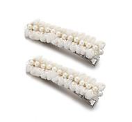 rendas lindo / de cetim casamento / ocasião especial headpiece barette-conjunto de 2