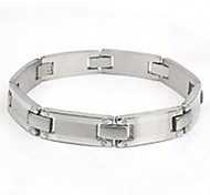 Men's Fashion Personality Titanium Steel Silver Screw Design Bracelets