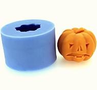 Halloween Pumpkin Fondant Cake Chocolate Candle Silicone Mold,L4.3cm*W4.3cm*H3.4cm