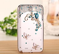 Diamond Gem Butterfly Back Cover Case for SAMSUNG GALAXY Note 2 N7100(Assorted Colors)