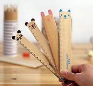Cute Animals Wooden Ruler(Random Color)