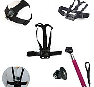 JMT Helmet Strap Belt Mount + Chest Shoulder Strap + Self-portrait Monopod W/ Tripod Mount for Gopro Hero HD Camera
