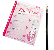 5 Colors 3PCS Beauty Eye Brow Card with a Drawing pen