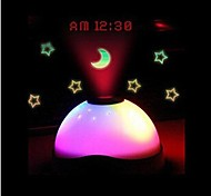 Fantasy Luminous Colorful Sky Projection LED Nightlight Clock