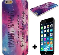 Hakuna Matata Pattern Hard with Screen Protector Cover for iPhone 6