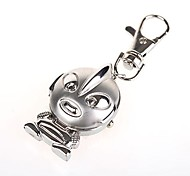 Fashion Unisex Alloy Analog Quartz Keychain Pocket Watch