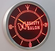 nc0258 Beauty Salon Butterfly Shop Neon Sign LED Wall Clock
