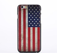Retro US Flag Design Pattern Plastic Hard Back Cover for iPhone 6 Plus