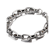 Width 1cm,Silver Plated Fashion Popular Cheap Strip Carved Figaro Chain Bracelet