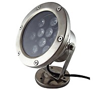 9W 9 LEDs IP68 wasserdichten Outdoor-warmweiße LED-Unterwasserbeleuchtung (12 V DC)