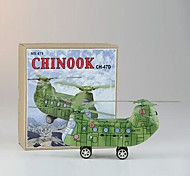 Zinn Chinook CH-47D Hubschrauber Wind-up-Spielzeug für Sammlung