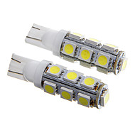 T10 2.5W 250LM 13×5050 SMD LED White Light for Car Dashboard / Door / Trunk Lamps (DC12V  2Pcs)