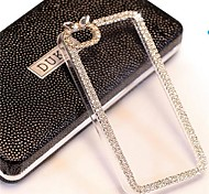 LADY® Elegant Decorated with Diamond Frame for iPhone 4 /4S