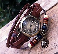 Women's Retro High Quality Beetle Leather Quartz Movement Bracelet Watches