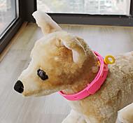 Dog Collar Adjustable/Retractable Pink Plastic